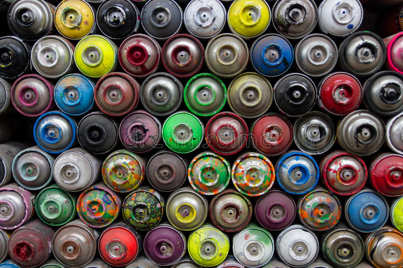 Colorful Spray Cans Free Public Domain Cc0 Image