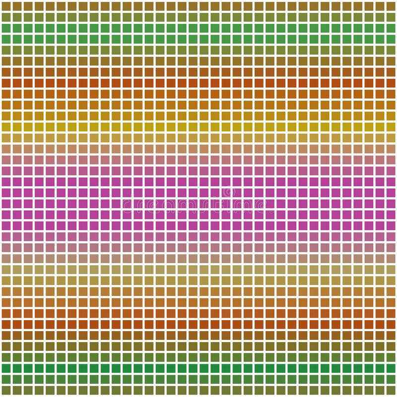 Colorful Square Grid Vector Dotted Texture Background Pattern stock illustration