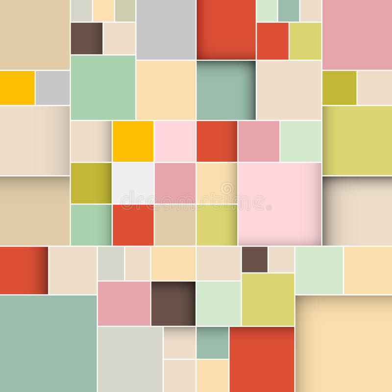 Colorful Square Retro Paper Background. Vector Illustration vector illustration