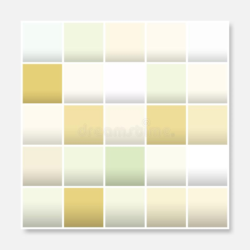 Colorful squares background frame, block soft pastel yellow stock illustration