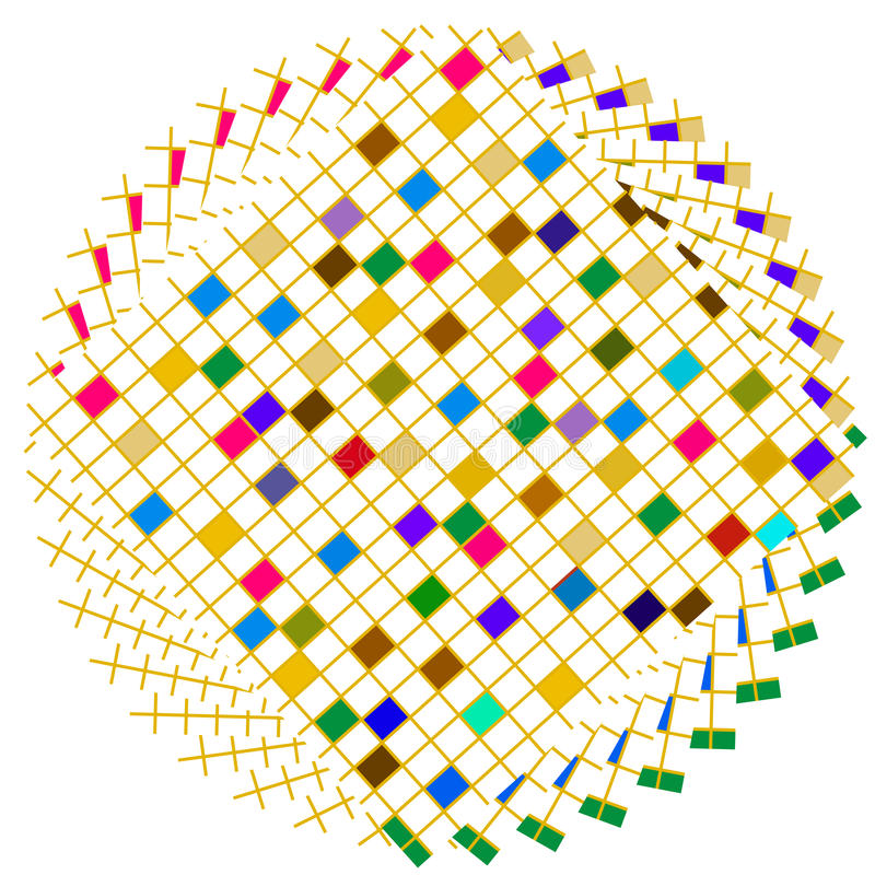 Colorful Squares Circle
