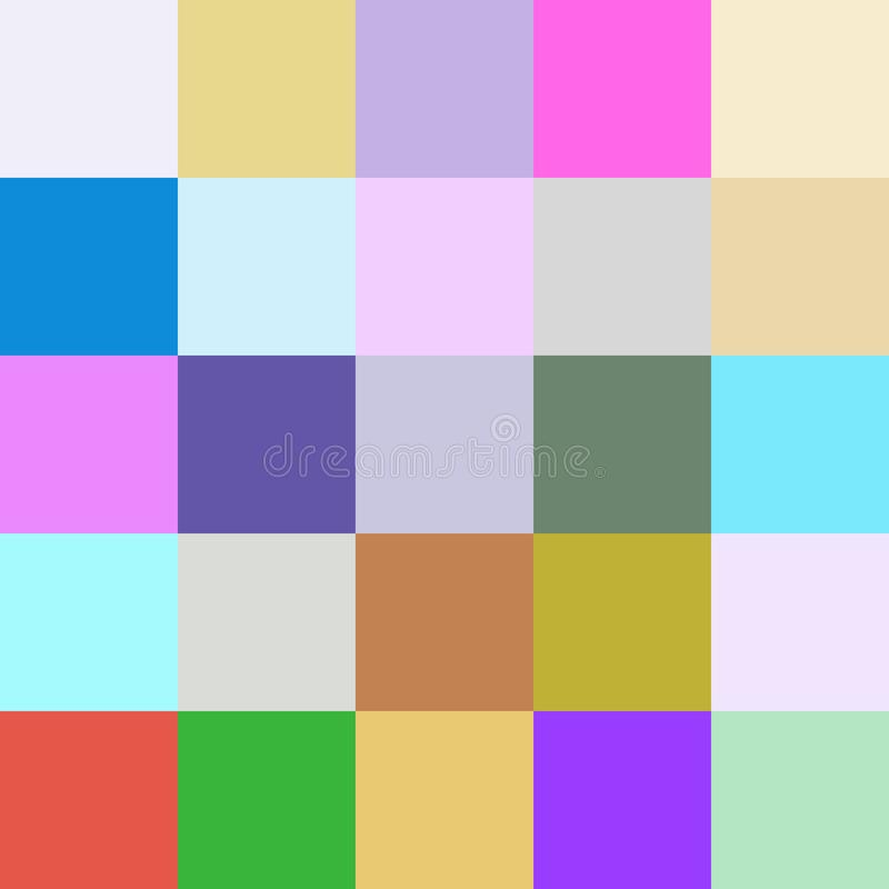 Colorful squares colors background, block soft pastel bright royalty free illustration