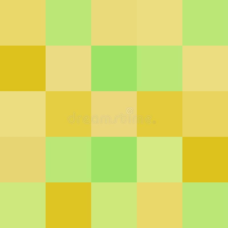 Colorful squares colors yellow green, block soft pastel bright vector illustration