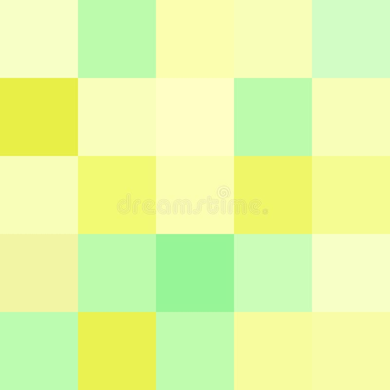 Colorful squares colors yellow green, block soft pastel bright stock illustration