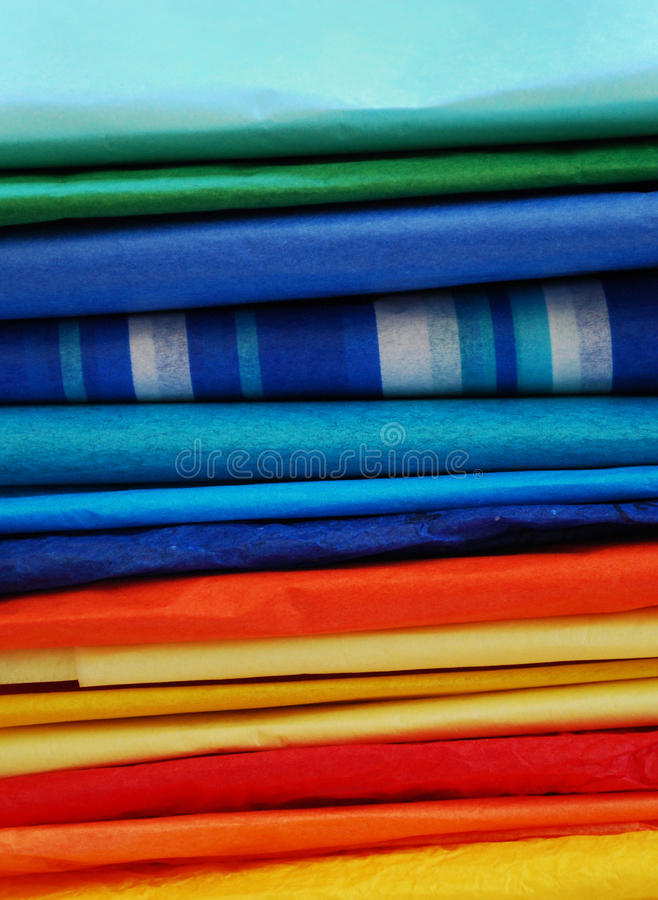 Free Colorful Stack Of Tissue Paper Stock Image - 19932611