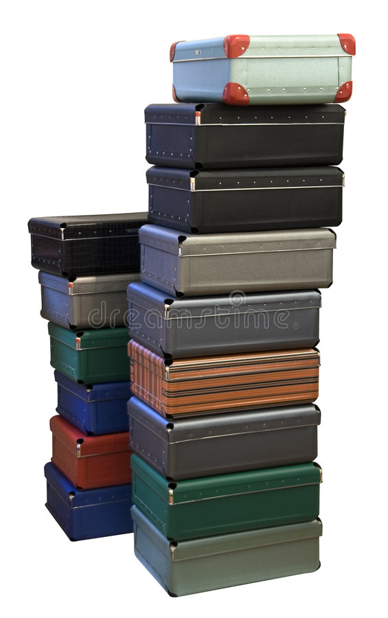Download Colorful stacked suitcases stock photo. Image of stacks - 2186538