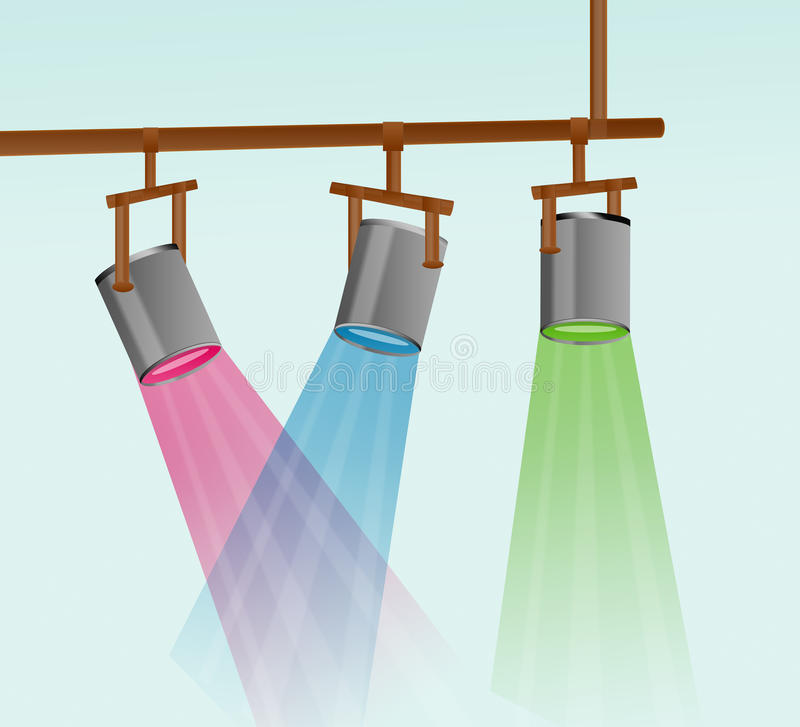 Colorful Stage Light Illustration stock image