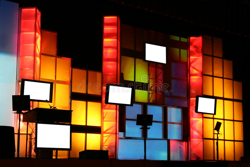 Colorful Stage Production royalty free stock photo
