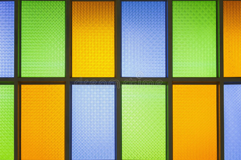 Colorful stain glass windows. Shiny vintage style colorful stain glass windows royalty free stock photo