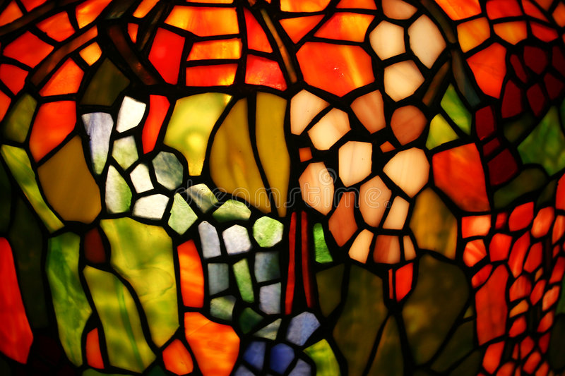 Colorful stained glass royalty free stock photography