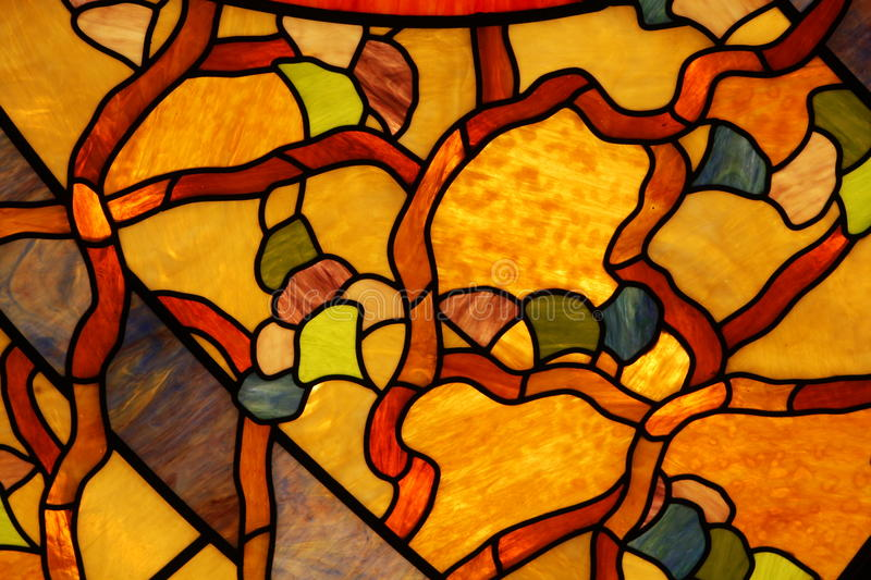 Colorful stained glass ceiling closeup royalty free stock image