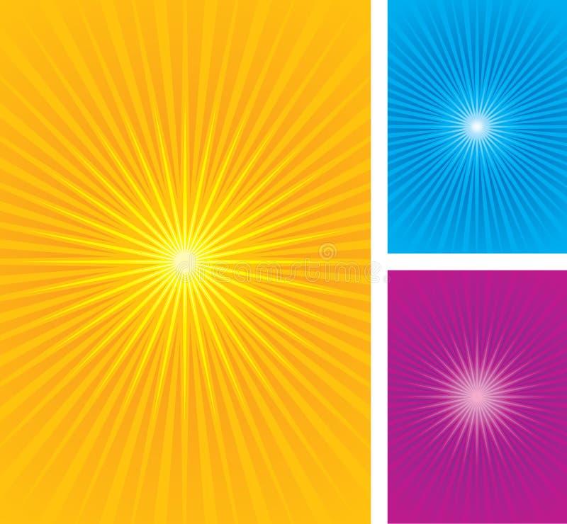 Colorful star burst background royalty free illustration