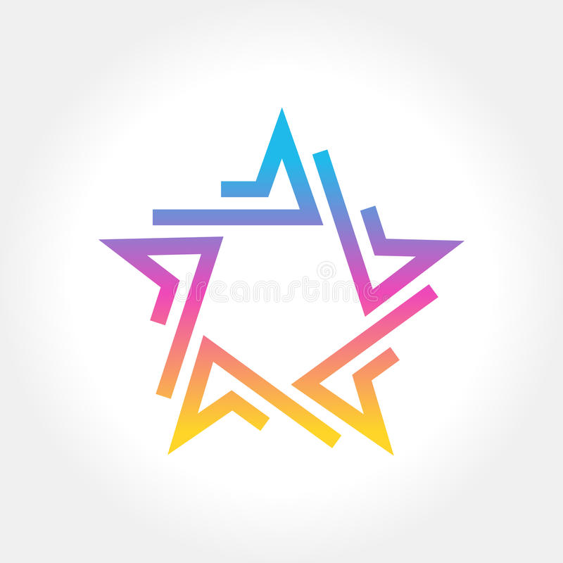Colorful Star logo and icon design royalty free illustration