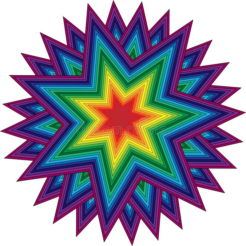 Colorful star ornament royalty free stock image