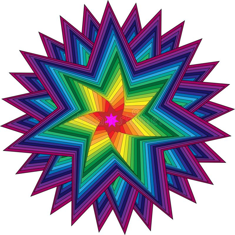 Colorful star ornament stock photography