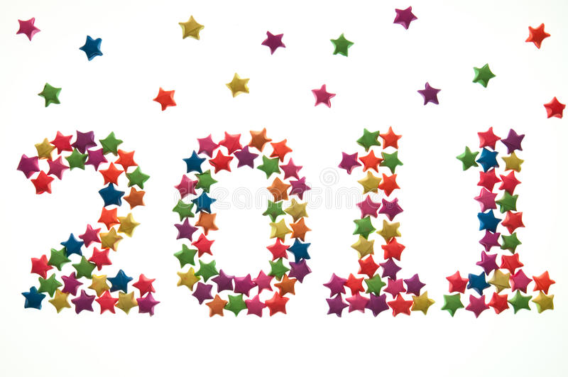 Download Colorful Of Star Sort Number Of Year Stock Photography - Image: 15856052