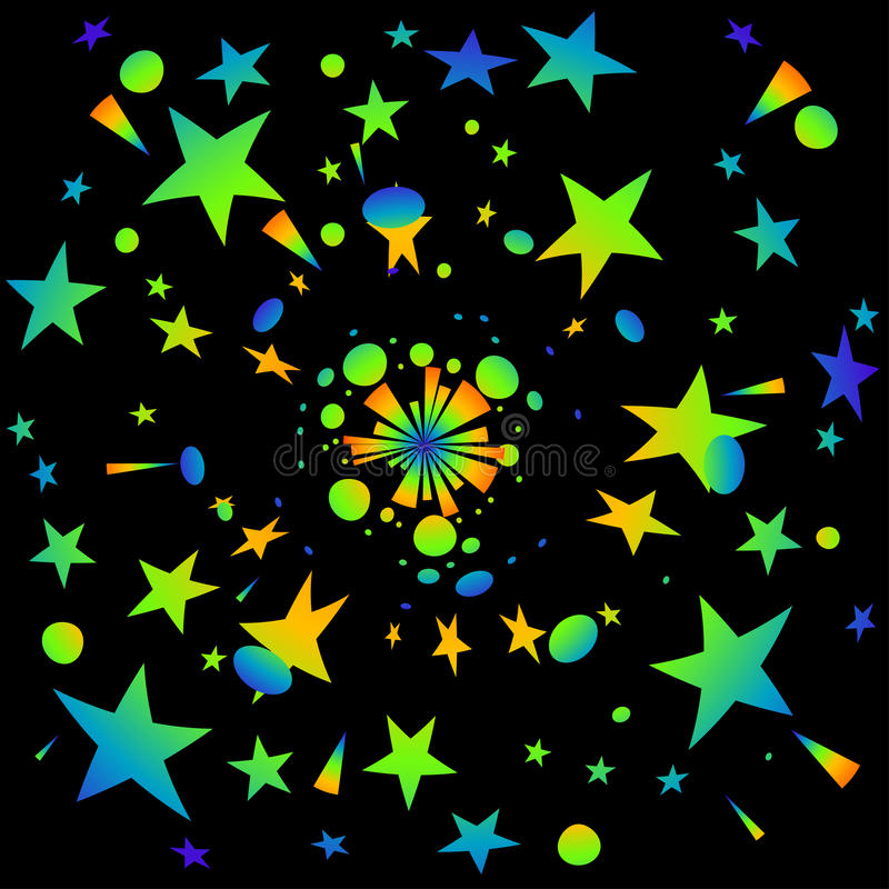 Colorful Stars Royalty Free Stock Images