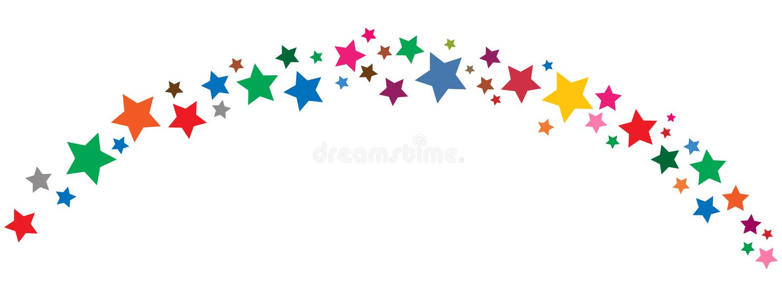 Colorful Stars border like vibgyor stock illustration
