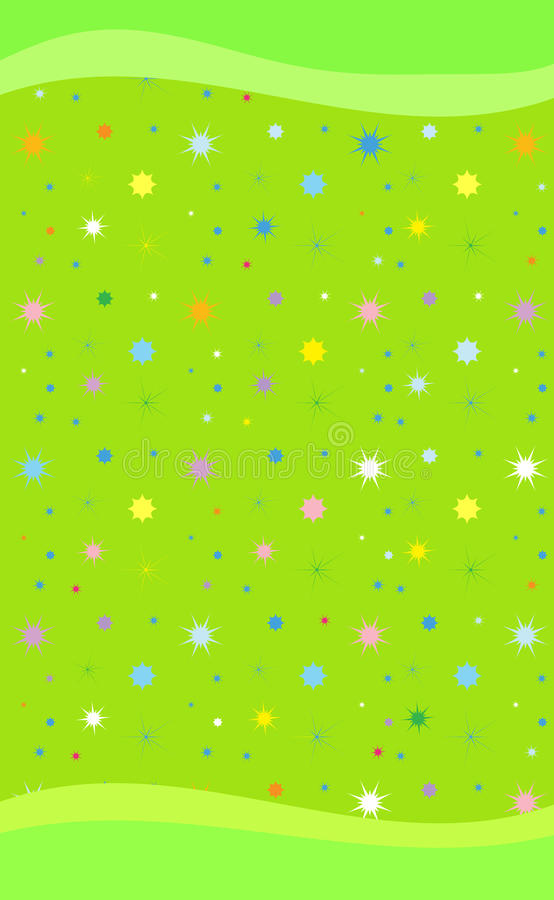Colorful stars on light green smart phone background. Colorful stars on light green background for smart phone. A light green background, illustration with stock illustration