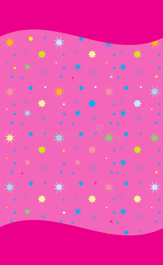 Colorful stars on rose smart phone background. Colorful stars on rose background for smart phone. A rose background, illustration with Seamless shapes colorful stock illustration