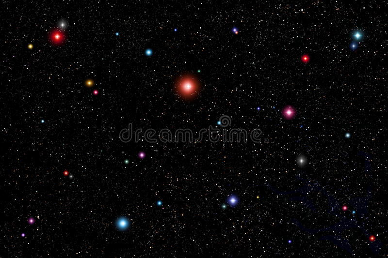 Colorful Stars Space Background royalty free illustration
