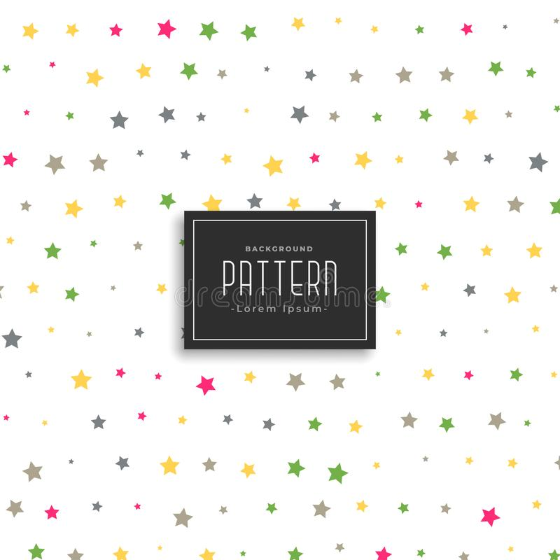 Colorful stars vector pattern background royalty free illustration