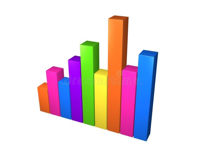 Download Colorful stat stock illustration. Image of illustration - 10411117