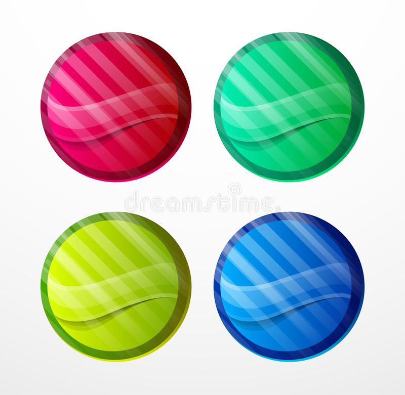 Download Colorful sticker set stock vector. Image of mark, graphic - 26442156