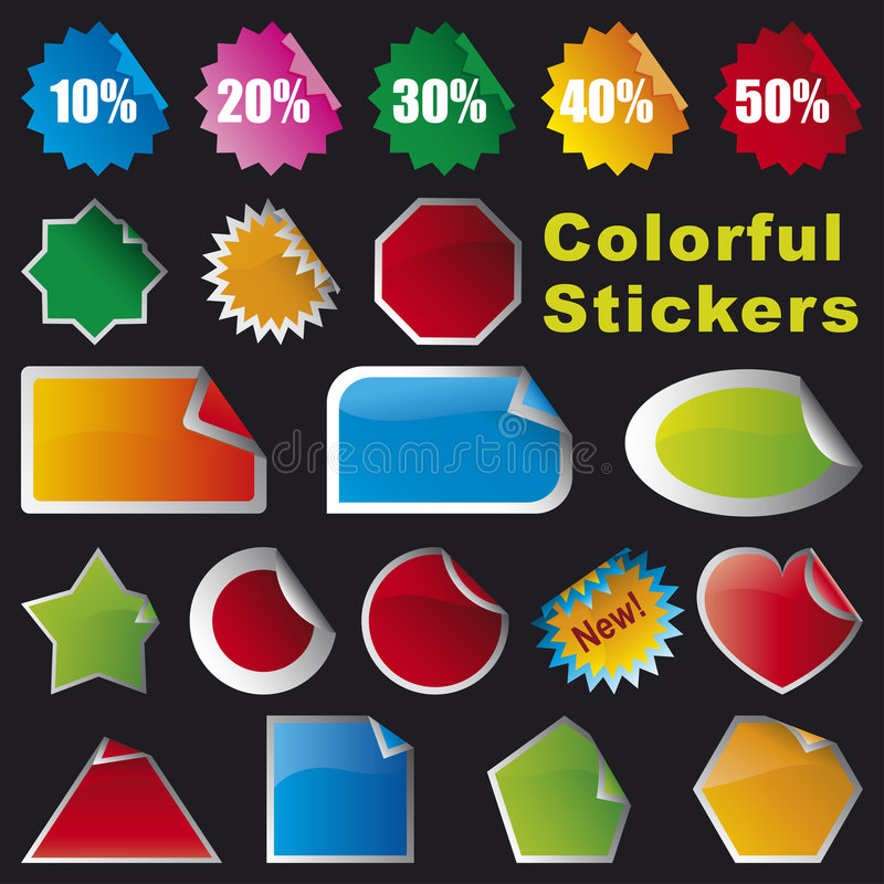 Colorful Stickers royalty free illustration
