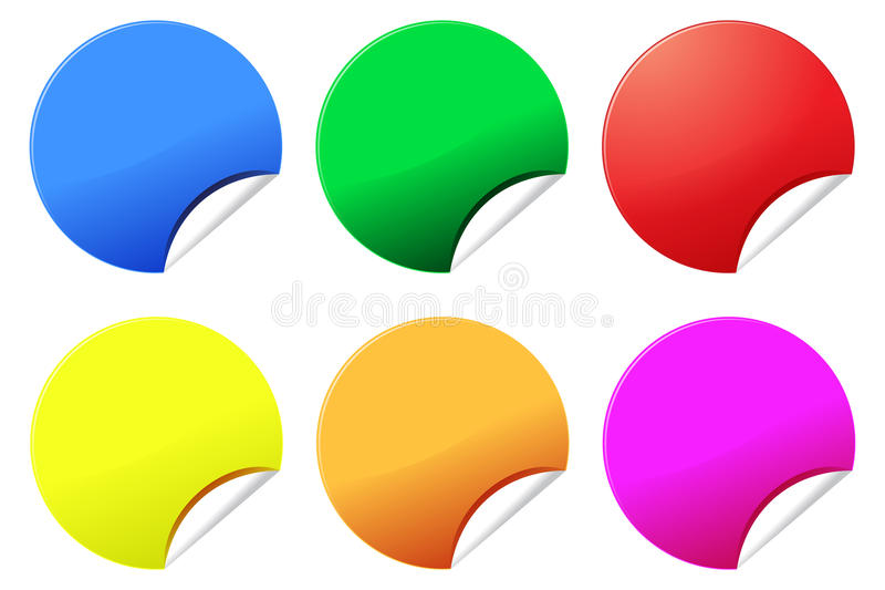 Colorful Stickers Or Labels Royalty Free Stock Photo