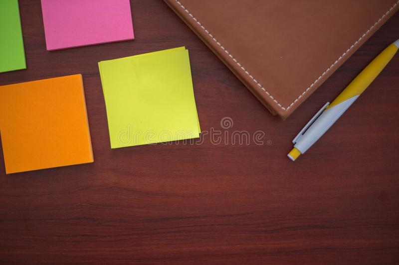 Colorful stickers, royalty free stock image