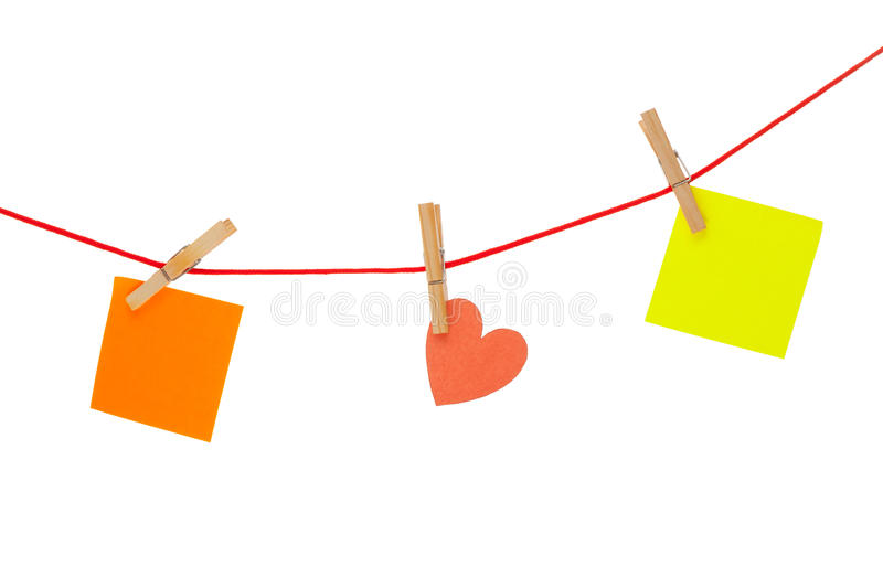 Download Colorful Stickies Hanged On Red Rope Stock Photo - Image: 29207548