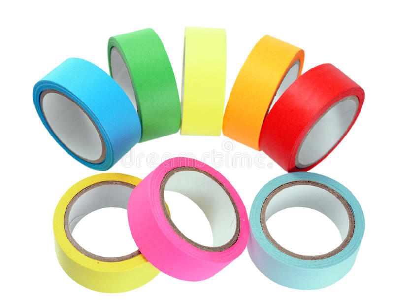 Colorful sticky tap rolls stock image