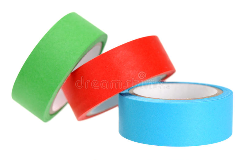 Download Colorful sticky tap rolls stock image. Image of unwind - 35766195