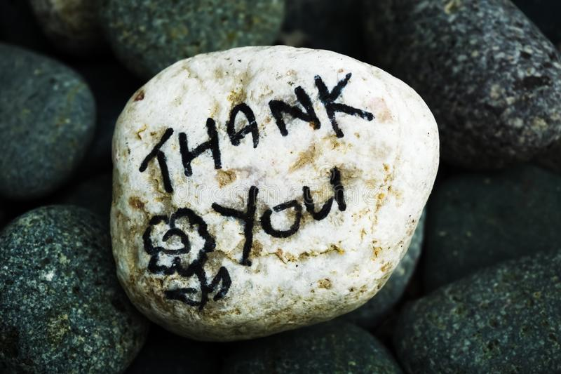 Stone painting - Thank You stock image