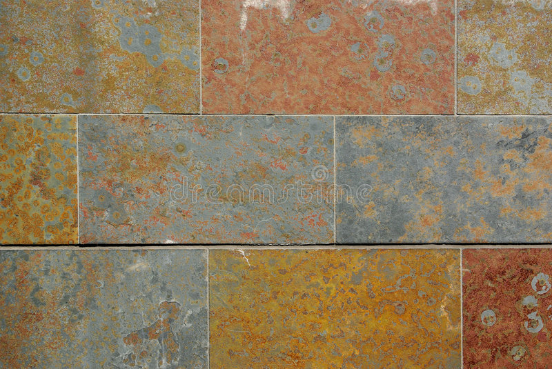 Colorful stone wall royalty free stock photo