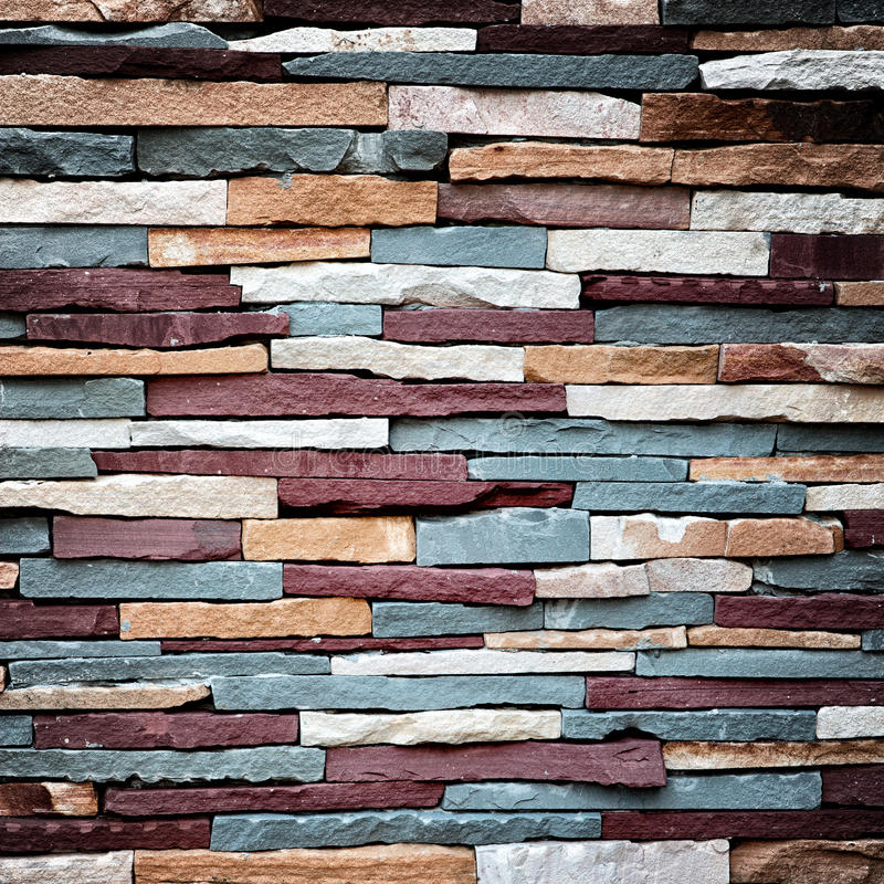 Colorful stone wall texture stock image