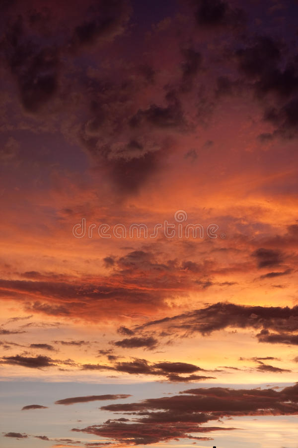 Colorful stormy sky royalty free stock images