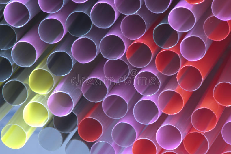 Colorful of straw stock image