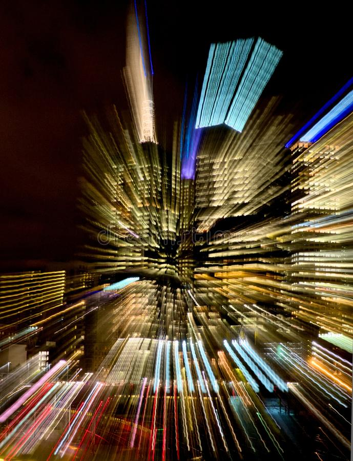 Download Colorful Streaks Of Lights From A City Building Stock Photo - Image of speed, design: 30773964