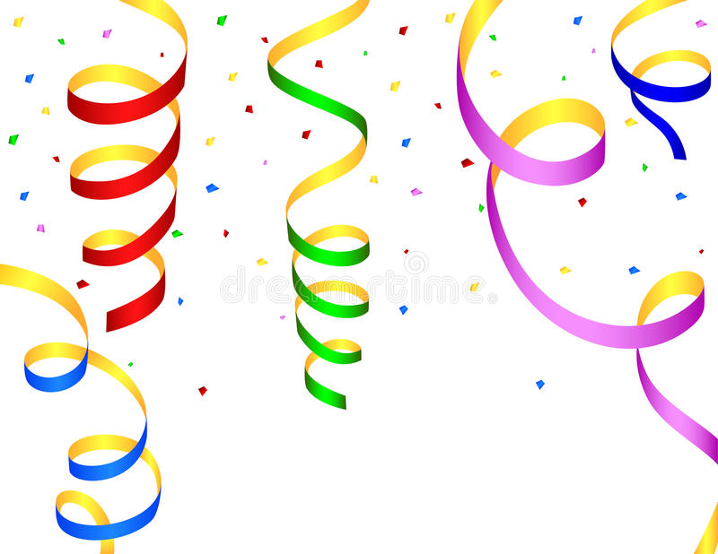Colorful streamers stock illustration