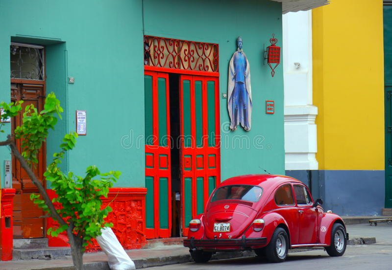 Colorful street stock photo