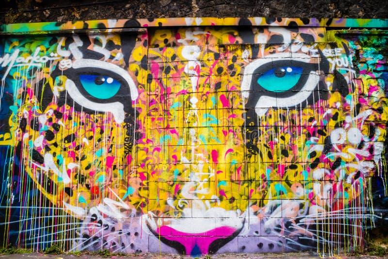 Colorful Street Painting Graffiti Art Editorial Photo - Image of ...