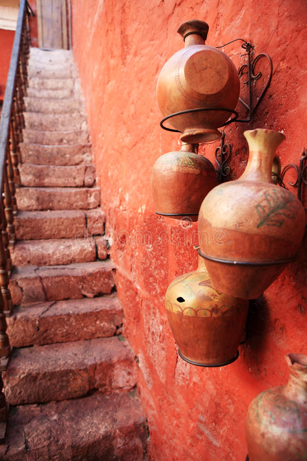 Colorful streets of Arequipa - Peru. royalty free stock images