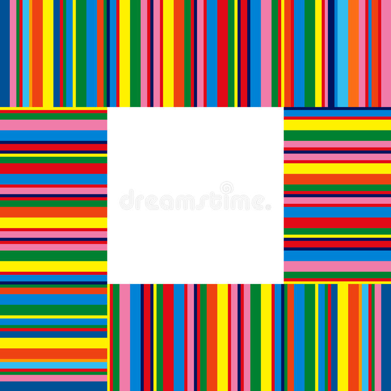 Colorful stripes stock illustration