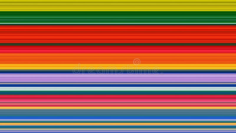 Colorful stripes abstract background; stretched pixels effect.  stock illustration