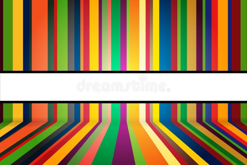 Colorful stripes background vector illustration