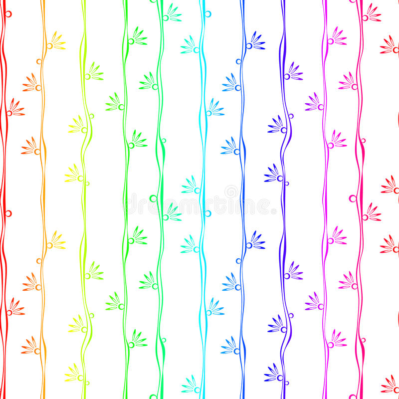 Download Colorful Stripes With Flowers Seamless Background Stock Photo - Image: 92029842