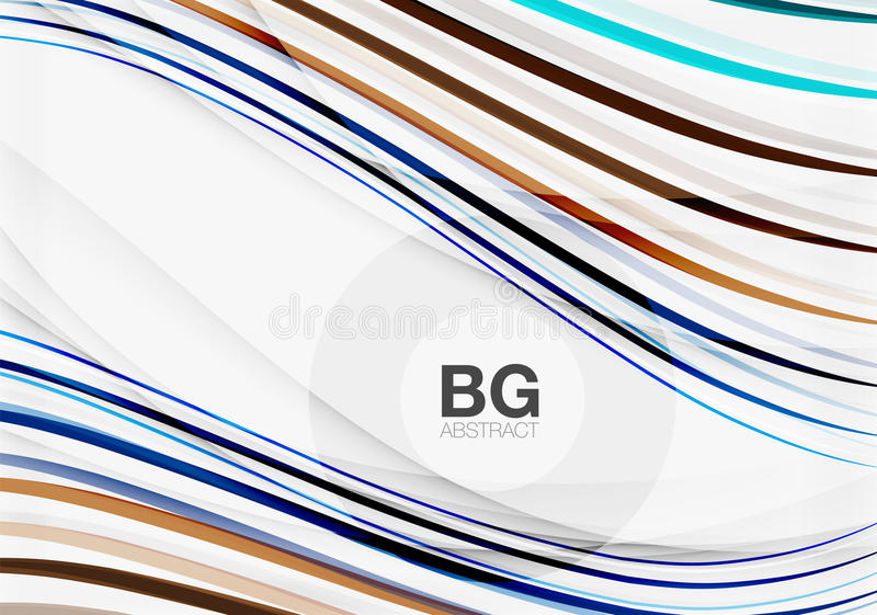 Colorful stripes on grey. Modern technology or business web abstract background stock illustration