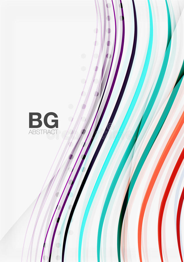 Colorful stripes on grey. Modern technology or business web abstract background vector illustration